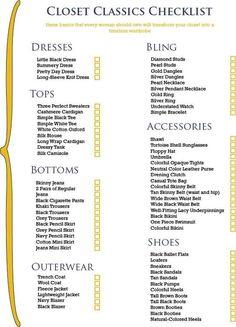 Closet essentials...