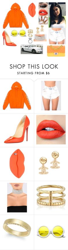 """""""Orange You Glad I'm A Babe"""" by divinemaboundou ❤ liked on Polyvore featuring Christian Louboutin, Tiger Mist, STELLA McCARTNEY, Yves Saint Laurent, ZeroUV and Chanel"""