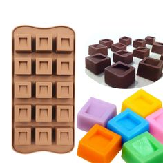 15 Hole Diamonds Chocolate Silicone Mold Fondant Cake Decoration Tool Stencil Mould DIY Ice Cube Tray Handmade Soap Mold