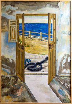 Una puerta con vistas al mar