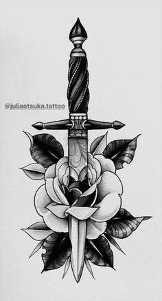 Ideas Tattoo Old School Rose Design Flash Art tattoo designs ideas männer männer ideen old school quotes sketches Rose Tattoos, Body Art Tattoos, Sleeve Tattoos, Tattoo Ink, Leg Tattoos, Flower Tattoos, Rose Tattoo Ideas, Tattos, Back Tattoos