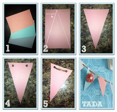 DIY banner idea and baby shower downloads :) even though turquoise and…