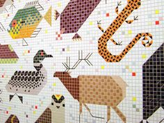 Charley Harper Mosaic Mural in the Federal Building Downtown | Visualingual