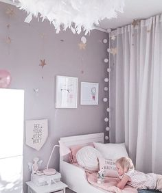 37 Small Bedroom Designs and Ideas for Maximizing Your Small Space That Pop - The Trending House Big Girl Bedrooms, Purple Bedrooms, Little Girl Rooms, Girls Bedroom, Bedroom Ideas, Purple Kids Rooms, Lilac Room, Room Wall Colors, Small Bedroom Designs