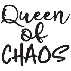 Silhouette Design Store: queen of chaos
