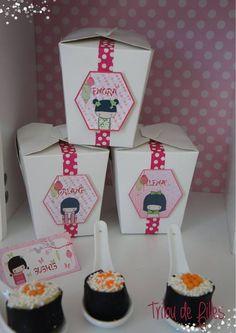 Un anniversaire sur le thème des poupées Kokeshi