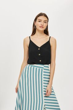Button Front Camisole Top