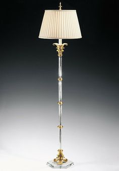 Fluted Crystal Floor Lamp - Traditional - Floor Lamps - Inviting Home Inc