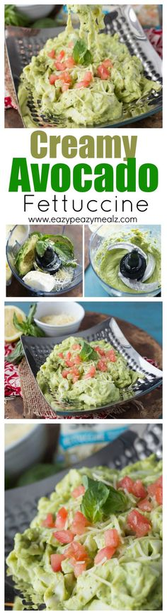 Creamy Avocado Fettuccine, with gluten free, non-gmo noodles, an easy to make, delicious meal! #ad - Eazy Peazy Mealz