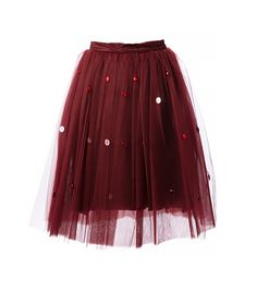 @Who What Wear - Au Jour Le Jour                  Tulle Skirt ($349)  Take this party-ready skirt into daytime territory with a crewneck sweater.