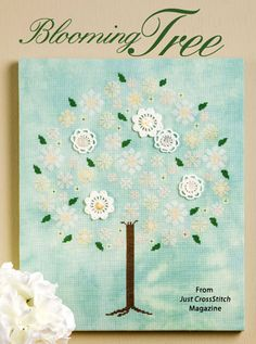 Blooming Tree from the Jul/Aug 2015 issue of Just CrossStitch Magazine. Order a digital copy here: https://www.anniescatalog.com/detail.html?prod_id=125655