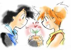 Beautiful <3 Pokeshipping ^.^ <3 Pokemon Ships, Pokemon Team, Pokemon Ash And Misty, Absence Makes The Heart Grow Fonder, Pokemon Couples, Original Pokemon, Ash Ketchum, Get Happy, Cute Comics