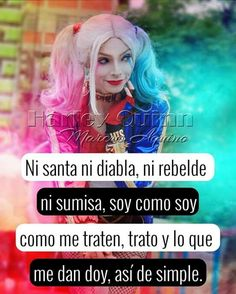 Siganme como Emily No te arrepentirás🎀 Joker And Harley, Harley Quinn, Best Friendship Quotes, Love Phrases, The Ugly Truth, Madly In Love, Love Messages, Spanish Quotes, Pretty Little Liars