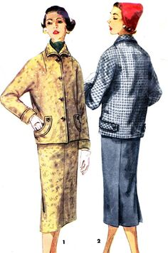 1950s Skirt and Jacket Pattern Simplicity 1311 Slim by paneenjerez, $10.00