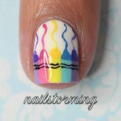 Crayon Nails from @nailstorming