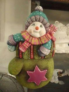 Muñeco de nieve en guante