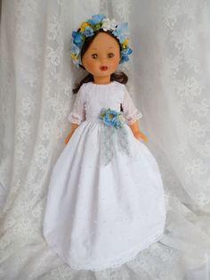 ANILEGRA COSE PARA NANCY: Vestido de comunión para Nancy diseño Anilegra Nº4