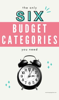 Are you struggling with how to budget your money? Check out the only 6 budget categories you need to create a simple budget you can use to start managing your money like a boss! Budgeting Finances | How to Budget | Budget Money #mommanagingchaos #budget #money