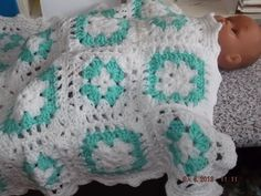 Baby Crochet Blanket and Shawl  Cuddle blanket (nannycheryl original) ID 700 (B) £30.00