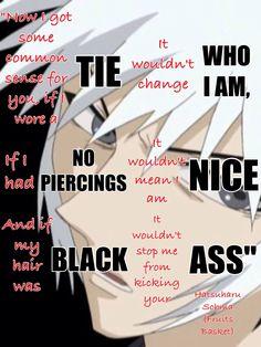 Hatsuharu Sohma- My first anime crush :3 Isn't he a little ray of sunshine when he turns black ? XD