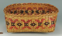 Lot 379: Cherokee Rivercane Basket, Low Form