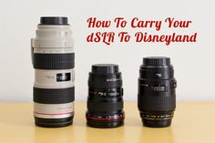 How To Carry Your dSLR To Disneyland and Disney World | Capturing Magic