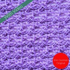 Tunisian Grapevine Stitch Crochet Stitch Tutorial Learn to Make Tunisian Crochet Lace with Free Patterns and Stitches - CrochetKim™ Beginners Knitting Kit, Easy Knitting Projects, Knitting Kits, Knitting Tutorials, Knitting Machine, Lace Knitting, Crochet Projects, Diy Headband, Knitted Headband