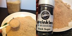 Edible Sand 5 Graham crackers, crushed fine 2 T raw sugar 1 tsp black sugar 1 tsp white sanding sugar