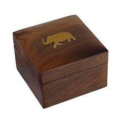 Indian Elephant Jewelry Box - 10 cm by 7 cm Hinged Wood Box - Handmade Jewelry Box ShalinIndia http://www.amazon.co.uk/dp/B00BCWJ3HG/ref=cm_sw_r_pi_dp_GMIJvb15HG7VX