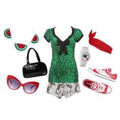 """Watermelon"" by velvetvolcano on Polyvore"