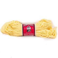 Vintage Aunt Lydias Yarn Heavy Rug #510 Yellow 235 Thread #Crafting #CraftProjects 70 Yard Skein #AuntLydias #RugYarn