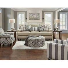 #ContemporaryLivingRoomFurniture 4 Piece Living Room Set, New Living Room, Living Room Furniture, Living Area, Wayfair Living Room Sets, Studio Living, Blue Furniture, Furniture Logo, Wooden Furniture