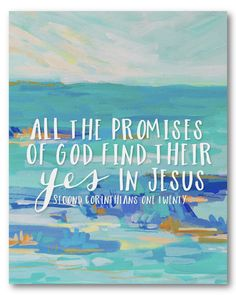 2 Corinthians 1:20, starting at $14, also available as a canvas! (Art by @blakelymade)