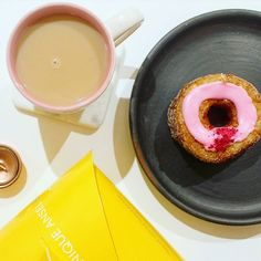 Saturday's are made for tea and cake   February's Cronut was Raspberry and Orange Blossom. Have to say it's my least favourite so far but I have heard good things about the March one!