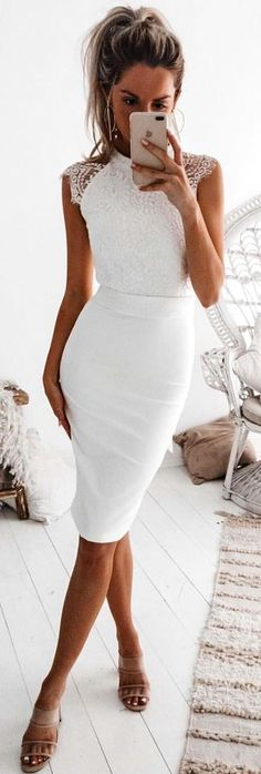 #winter #outfits white sleeveless dress