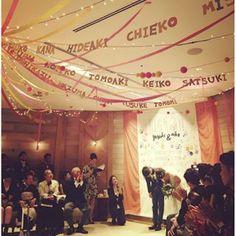 Instagram 写真撮影uekami.tsg - 2016.01.04 *High FIVE*  仲間に背を押され 結婚式を挙げることを決めた二人 そんな 二人が選んだ挙式会場は ゲスト約100名の 一人一人の名前が連なる デコレーションでした  作られたフォントでなく 彼女のハンドライティングだから 意味があると@harada.tsgの提案で 二人らしい空間が広がりました◎  #weddingparty #wedding #flower #weddingphoto #weddingplanner #weddingphotography #weddingdecoration #love  #weddingphotographer #bridal  #decoration #trunkbyshotogallery #happy  #コンセプトウェディング#プレ花嫁 #ウェディング  #ナチュラル #ヘア #ヘアスタイル #ヘアアレンジ #オリジナル#ブライダル #結婚式 #ゼクシィ #コーディネート #ウェディングプランナー