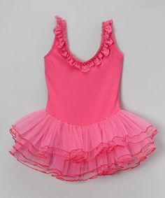 Look what I found on #zulily! Hot Pink Lace Skirted Leotard - Infant, Toddler & Girls #zulilyfinds