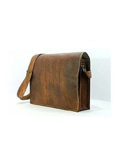 6cfa16fa2c3b Krishna Leather Shoulder Full Flap Laptop Leather Messenger Bag Satchel  Dark  fashion  clothing  shoes  accessories  mensaccessories  bags (ebay  link)