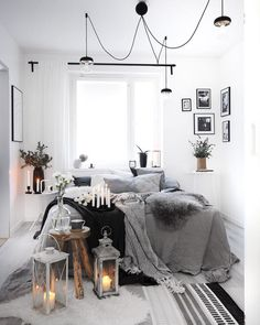 Personalize your home decoration with pretty digital printables. Scandinavian Interior Design, Modern Interior, Home Bedroom, Bedroom Decor, Bedroom Inspo, Bedroom Ideas, Master Bedroom, Monochrome Bedroom, Scandi Home