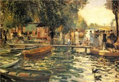 La Grenouillere - Pierre-Auguste Renoir. 1869. Impressionism. Oil on canvas @ Oskar Reinhart Collection