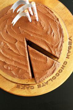 Vegan Chocolate Cake! One bowl required and SO moist and chocolatey! #vegan!
