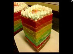 My rainbow cake❤️