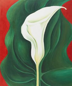 GEORGIA O'KEEFFE  Single Lily with Red (1928)