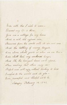 Valentine poem: Virginia Poe to Edgar Allan Poe, February 14, 1846