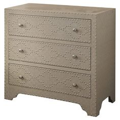 Crestview Springfield 3 Drawer Nailhead Chest & Reviews | Wayfair