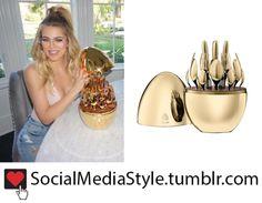 Buy Khloe Kardashian's Christofle Mood Gold Cutlery Set Egg, here!