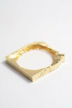 Lewis Bangle Gold. via The Cools