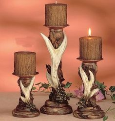 Antler D Cor Candle Set Of 3 Http Www Amazon Com