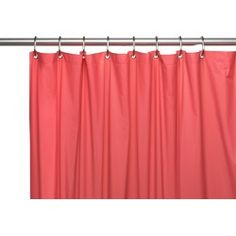 Carnation Home Hotel Collection, 8 Gauge Vinyl Shower Curtain Liner w/ Metal Grommets in Rose Hotel Shower Curtain, Vinyl Shower Curtains, Shower Curtain Hooks, Shower Liner, Mold And Mildew, Rose, Cleaning Wipes, House Styles