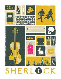 Sherlock Poster Art Modern Design Print by jefflangevin en Etsy Sherlock Fandom, Sherlock John, Sherlock Poster, Sherlock Holmes, Sherlock Quotes, Funny Sherlock, Watch Sherlock, Sherlock Season, Jim Moriarty